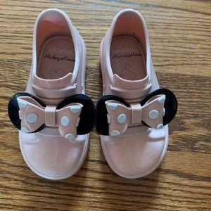 Mini Melissa Shoes - Mini Melissa Minnie rubber pink shoes